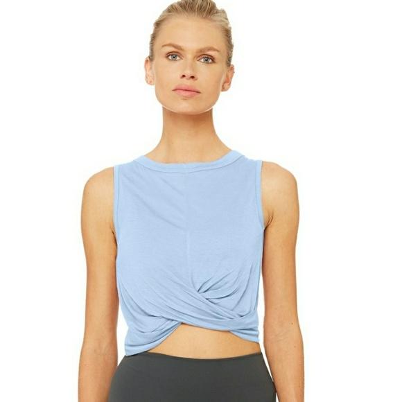 f9b820c8e3 ALO Yoga Tops - ALO Yoga Cover Tank in UV Blue Nwot